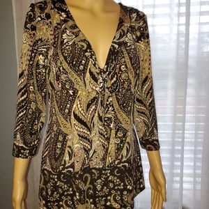 International Concepts 3/4 sleeve blouse size Lg